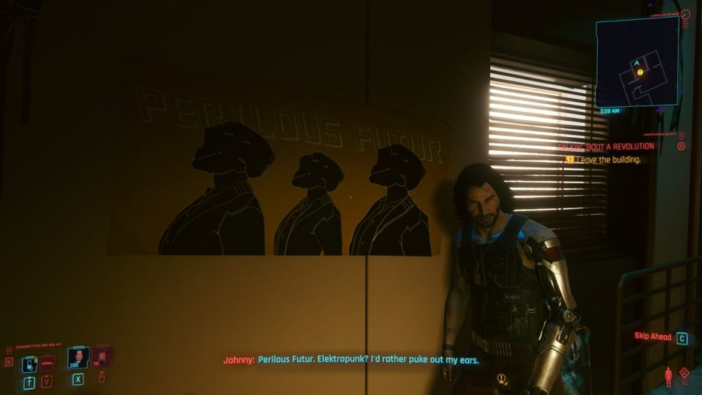 Johnny Silverhands comments on Electropunk poster