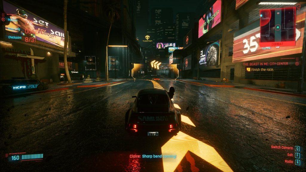 Cyberpunk 2077 Racing