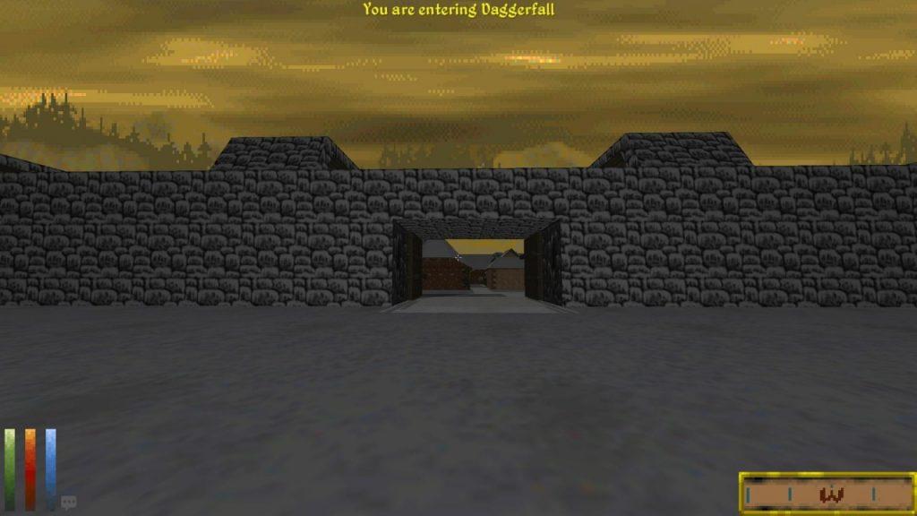 Entering Daggerfall city