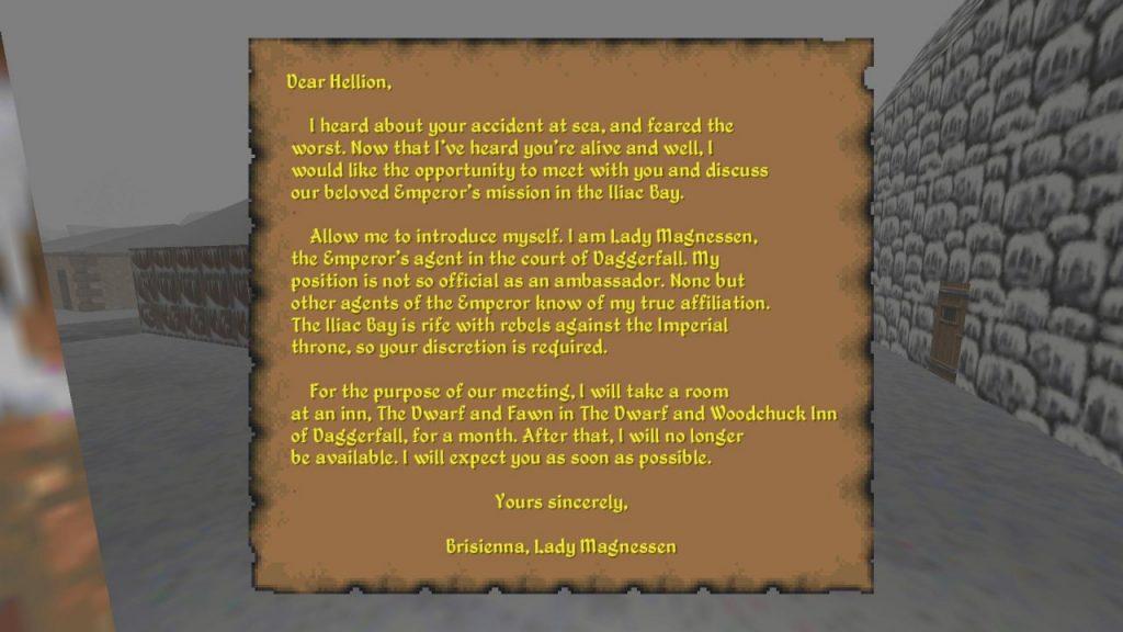 Lady Brisienna letter