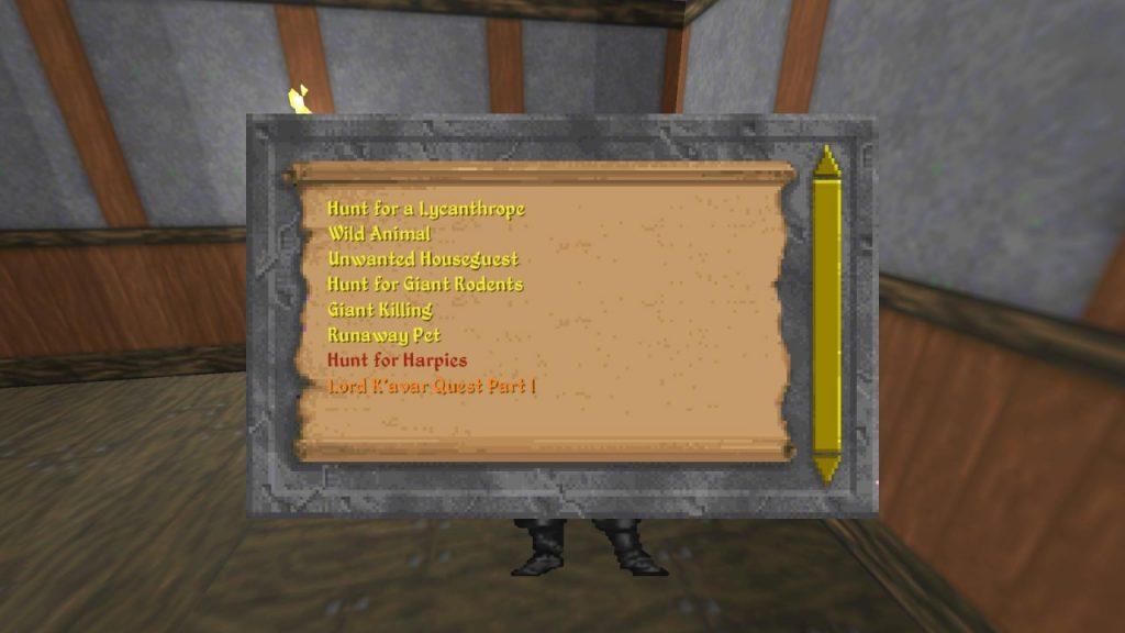 Daggerfall Unity quests list